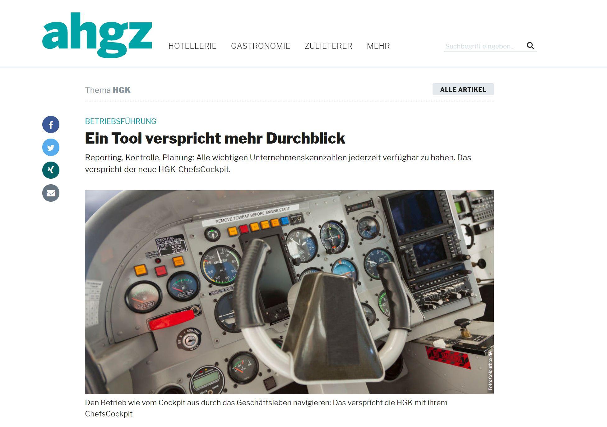 Artikel in AHGZ über Kooperation mit eagleControl
